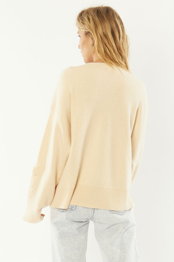 Amuse Society - Starshine LS Knit - Sand - Back