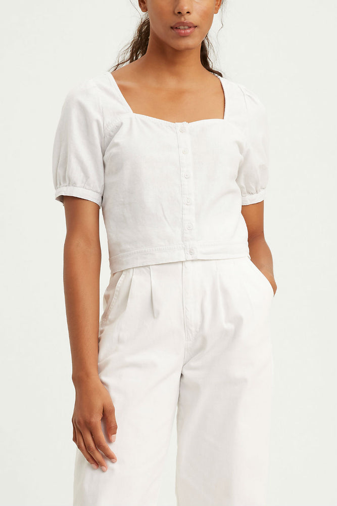 Levis - Simone Top - Bright White - Front