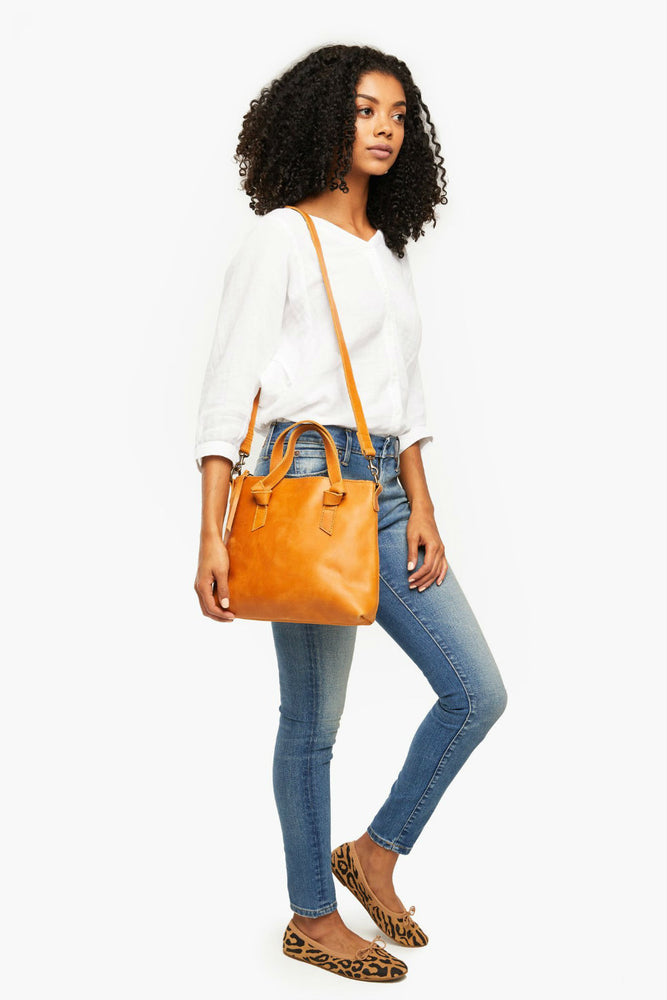 Able - Rachel Crossbody - Cognac - Model