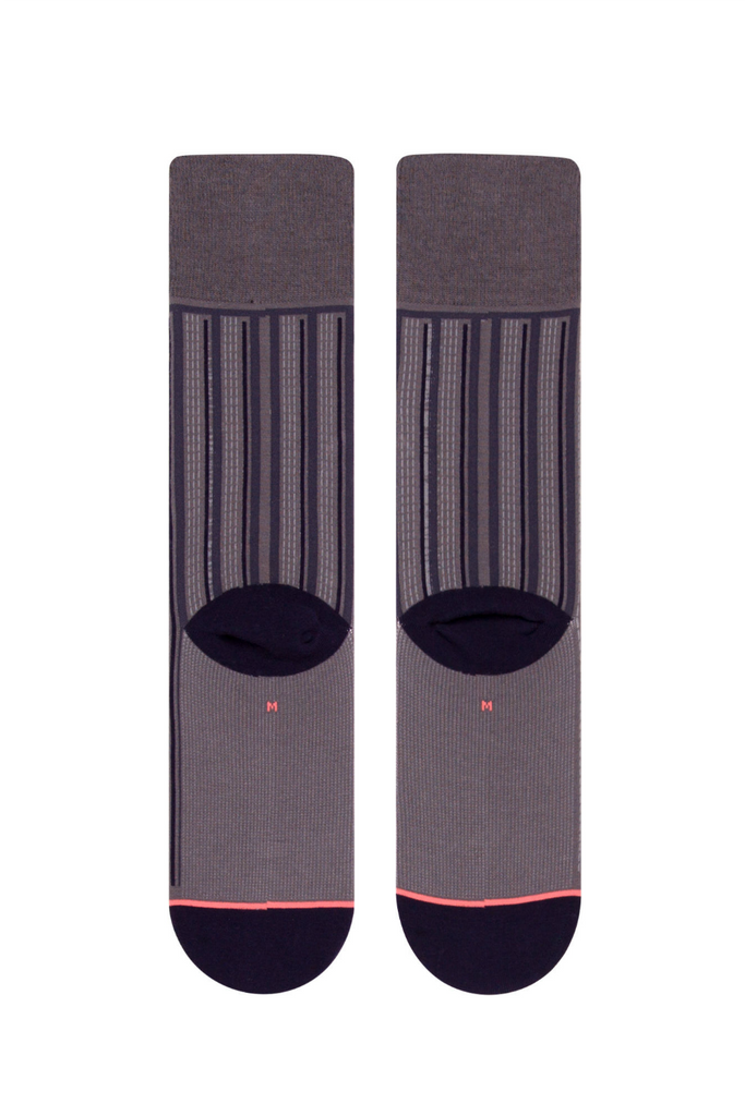 Stance - Stripe Down - Charcoal - Back