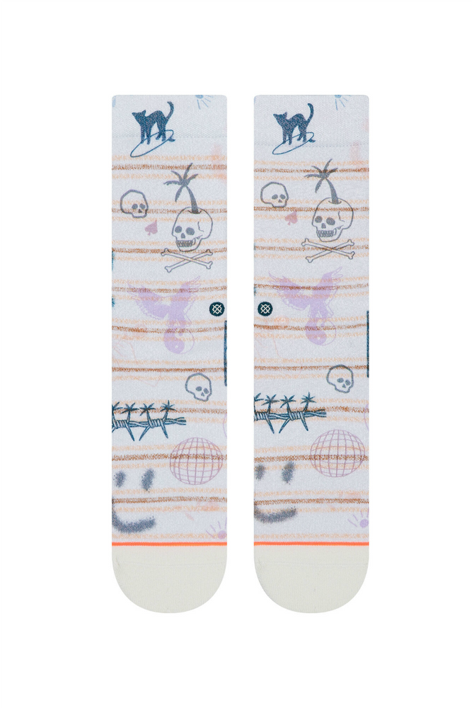 Stance - Hippie Moshpit Crew - Off White - Back