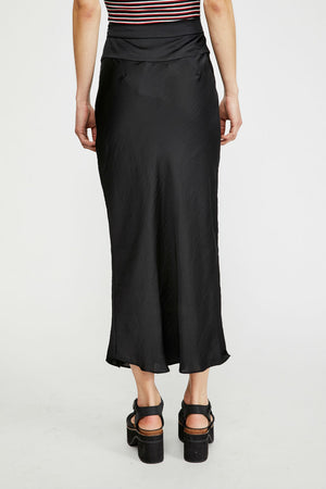Free People - Normani Bias Skirt - Black - Back