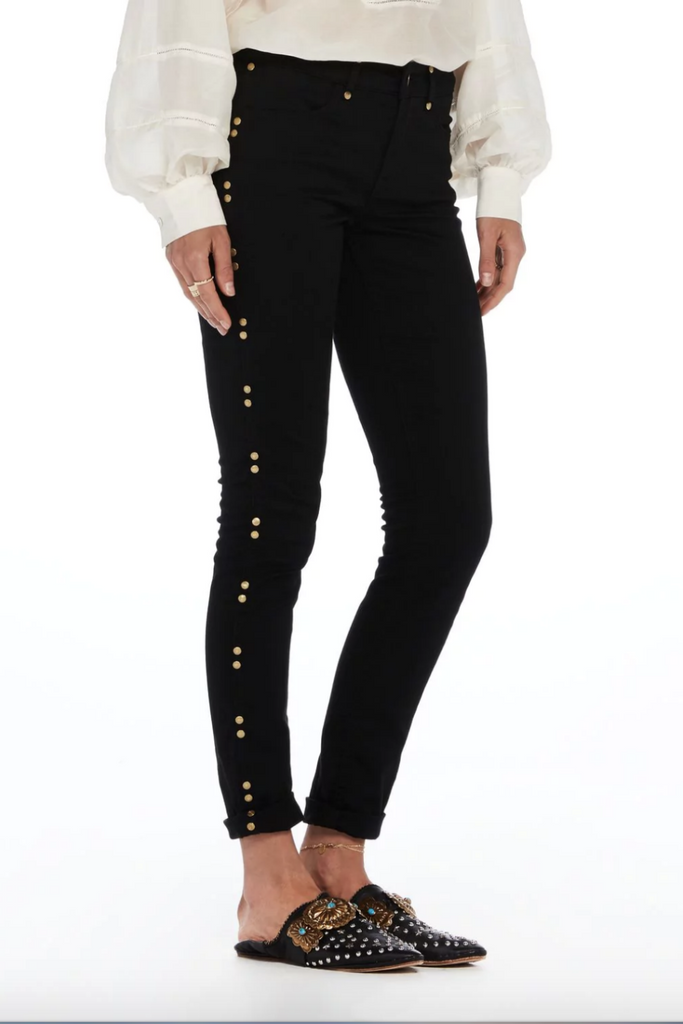Scotch and Soda - Studded Skinny Pant - Black - Side