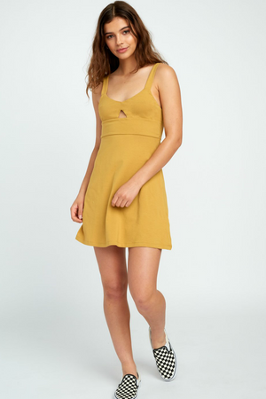 RVCA - All Talk Dress - Camel
