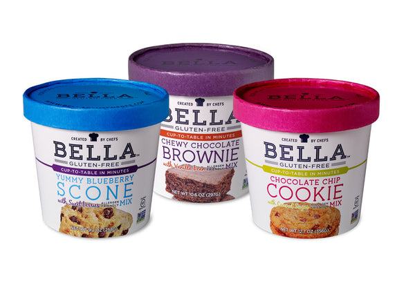 Bella Gluten-Free 'Sweet' Mixes, Variety Case of 3