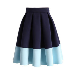 2 Colored Gathered Skirt-StyleStation