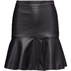 Black leather Skirt-skirts-StyleStation