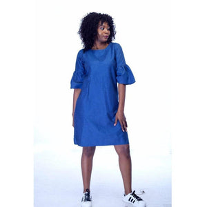 Denim shift dress-Dress-StyleStation
