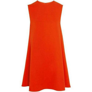 Simple Orange Dress-StyleStation