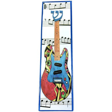 Electric Guitar Art Glass Mezuzah