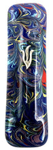 Blue Tie Dye Art Glass Mezuzah
