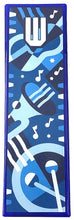 Music Blues Art Glass Mezuzah