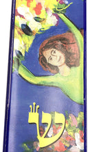 Flying Rubies Woman of Valor Art Glass Mezuzah