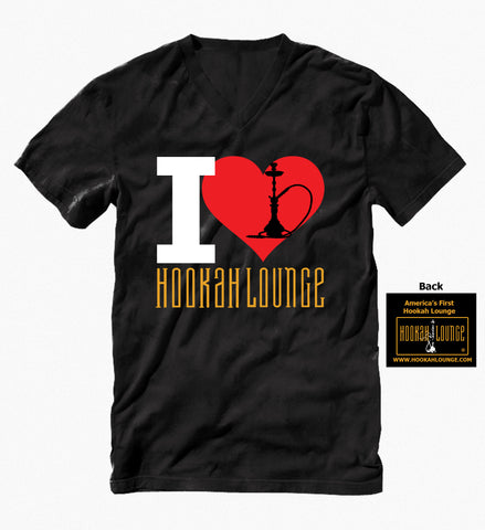 Men's T-Shirt V Neck+2 Drink Ticket to the First Hookah Lounge in America, Las Vegas