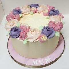 Pretty Floral Buttercream Cake
