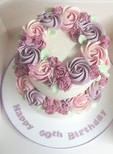 Load image into Gallery viewer, Pretty Floral Buttercream Cake