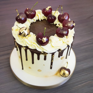 Gold Leaf Black Forest Cake