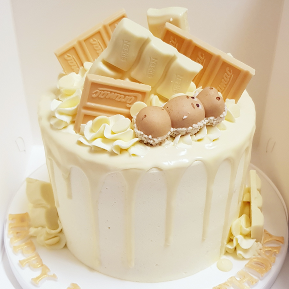 White Chocolate Overload Cake