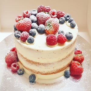 Semi Naked Sponge Cake with Fresh Fruit