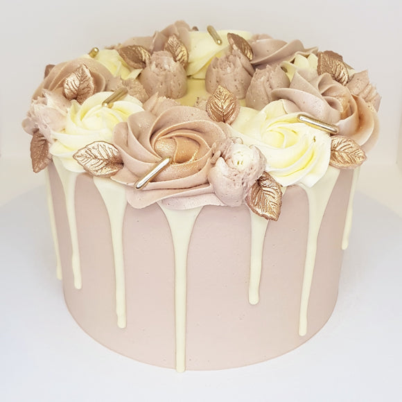 Cocoa Floral Drip Cake