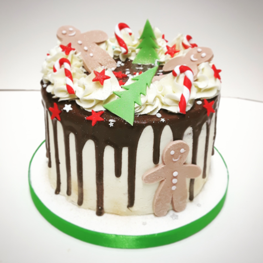 Merry Little Christmas Sponge Cake