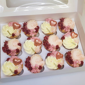 Box of 12 - Valentine's Cupcakes