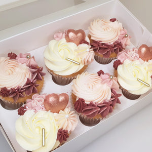 Box of 6 - Valentine's Cupcakes
