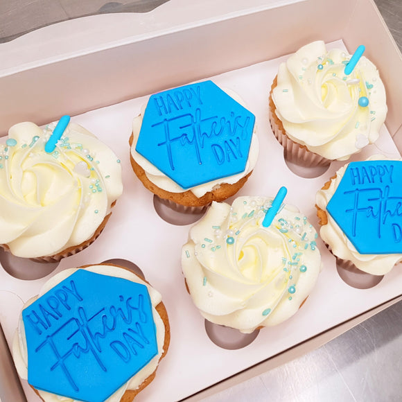 Father's Day Cupcake Box of 6