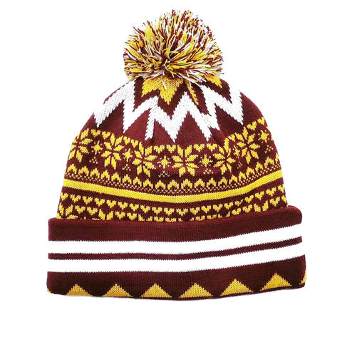 Claret and Amber Bobble Hat 2018