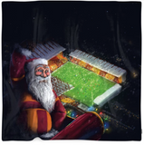 Bantams Santa Christmas Fleece Blanket/Throw