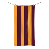 Claret and Amber Striped Towel