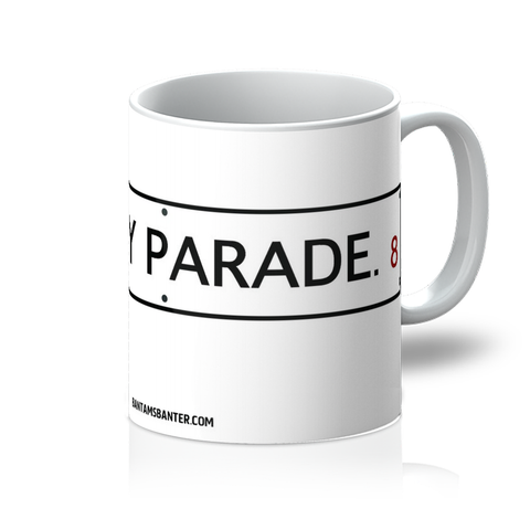Valley Parade Sign on White Mug