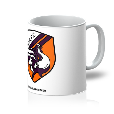 Retro Bantams Badge on White Mug