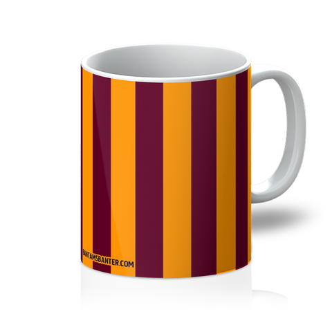 Claret and Amber Stripes Mug