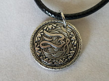 Charity~ Dove Nibble Charm with Antiqued Finish on Black Cord