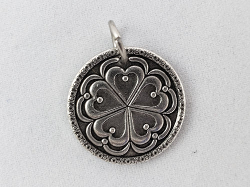 Nibble Charms- sold individually with no necklace- 5 of Hearts Antiqued finish