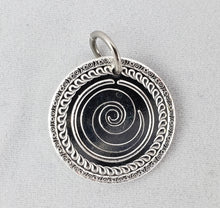 """Signature Swirl"" Polished Nibble Charm - Stainless Steel Chain"