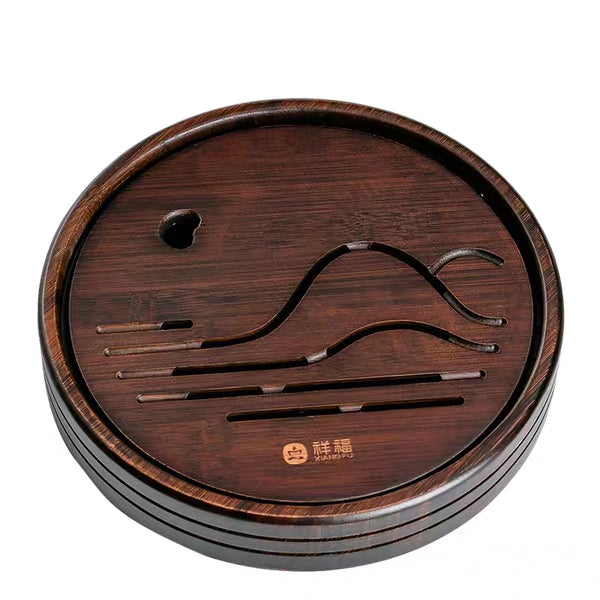 Round Bamboo Tea Table for Gong Fu Cha