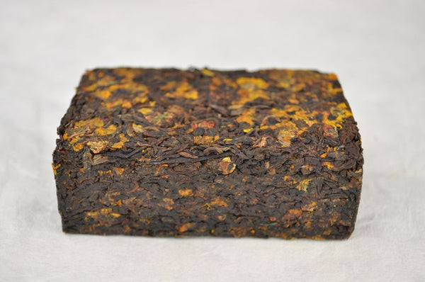 "2013 Yunnan Sourcing ""Xue Ju Shu Pu"" Ripe Pu-erh and Snow Chrysanthemum Tea Brick"