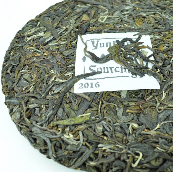 "2016 Yunnan Sourcing ""Bang Dong Zi Cha"" Purple Raw Pu-erh Tea Cake"