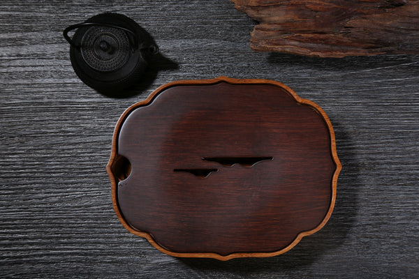 Eight Petal Lotus Wood Tea Table for Gong Fu Cha