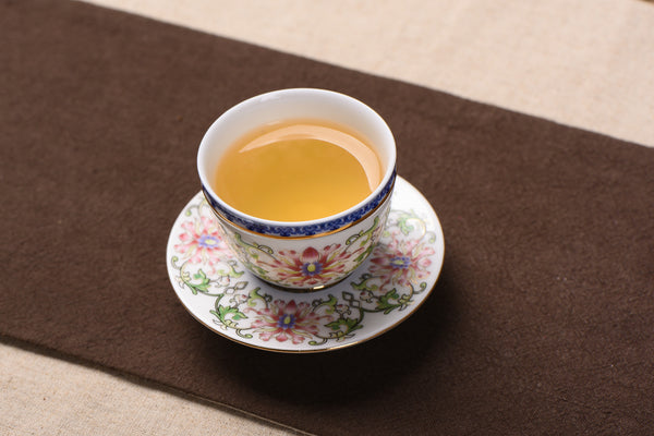 Foshan Qing Dynasty Style Mudan Flower Cup and Saucer * 60ml