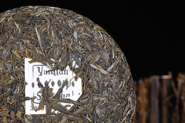 "2018 Yunnan Sourcing ""He Tao Di Village"" Raw Pu-erh Tea Cake"