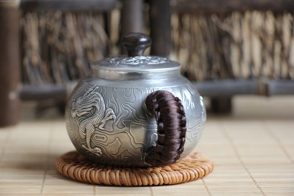 "Pure Silver 999 ""Roving Dragon"" Teapot * 120ml"