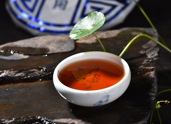 "2018 Yunnan Sourcing ""Year of the Dog Blue Label"" Ripe Pu-erh Tea Cake"