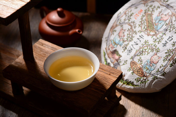 "2019 Yunnan Sourcing ""Man Gang Tea Flowers"" White Tea Cake"
