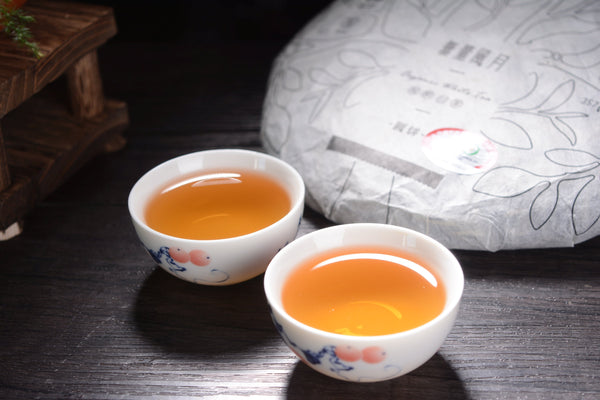 "2018 Zu Xiang ""Wu Liang Moonlight White"" Organic Tea Cake"