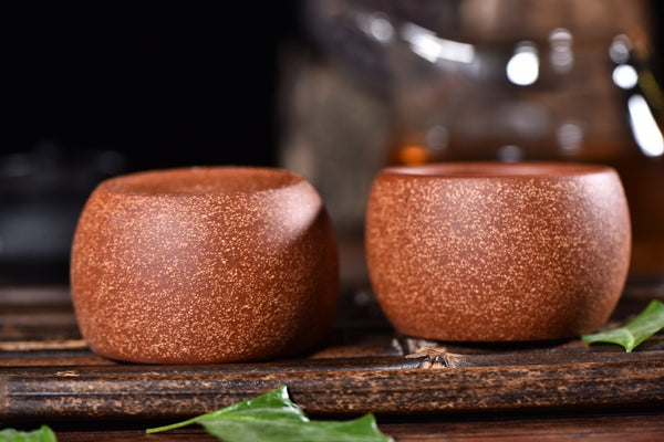 Red Clay and Sand Tea Cups for Tea * Set of 2 * 65ml Each