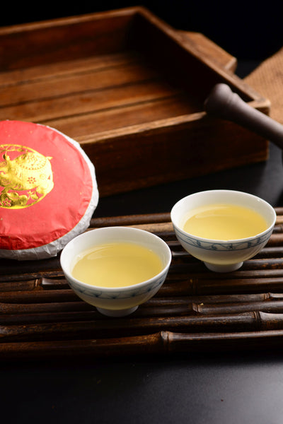 "2019 Yunnan Sourcing ""Golden Pig"" Raw Pu-erh Tea Cake"