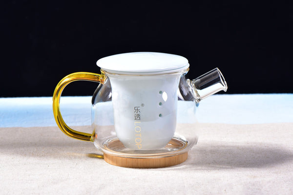 Glass Teapot with Ceramic Infuser Core and Bamboo Base * 400ml